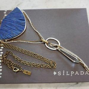 New - Silpada Lapis Brass & Silver